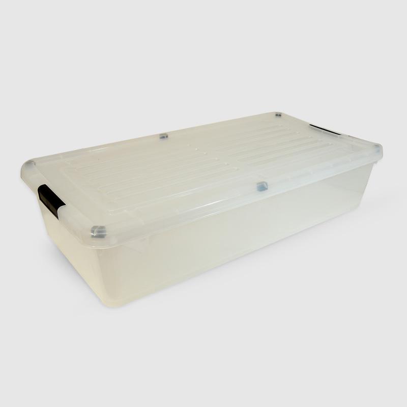 Caja org c trabas 35 litros bajo cama desesplast for Cajas bajo cama carrefour